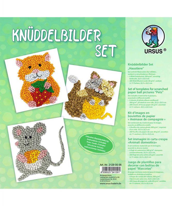 """Knüddelbilder Set 300 g/m² Set """"Haustiere"""" Art.-Nr.: 21290006"""