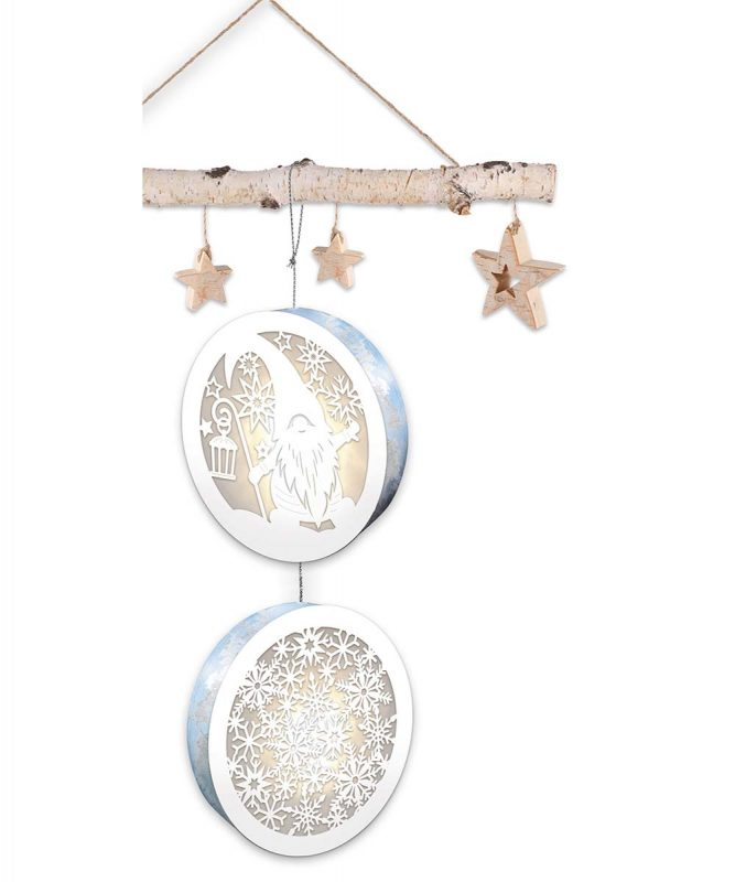 "Light boxes ""Gnome & Snowflakes"", Ø 15,3 cm Art.-Nr.: 21500004"