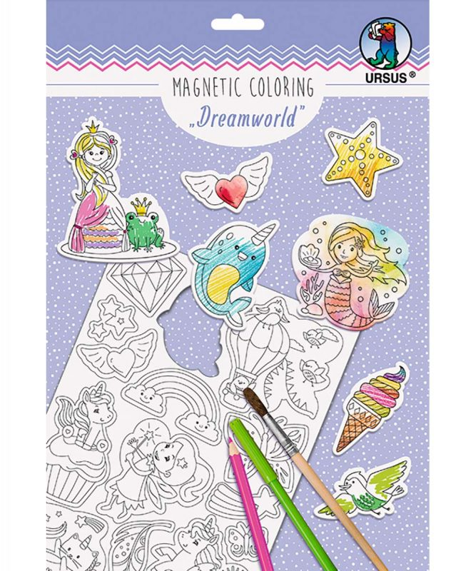 "Magnetic Coloring ""Dreamworld"", 30 verschiedene Stanzmotive Art.-Nr.: 43020001"