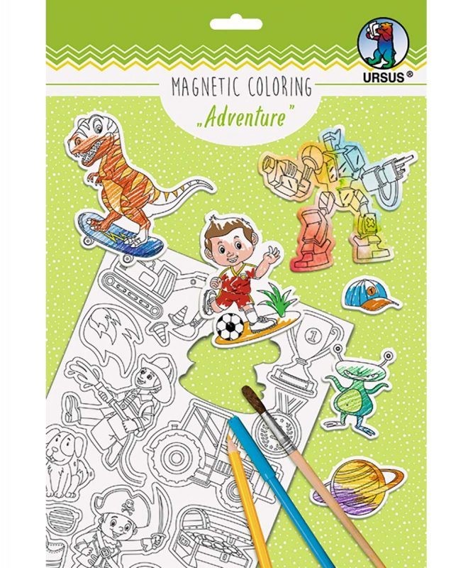 "Magnetic Coloring ""Adventure"", 30 verschiedene Stanzmotive Art.-Nr.: 43020002"