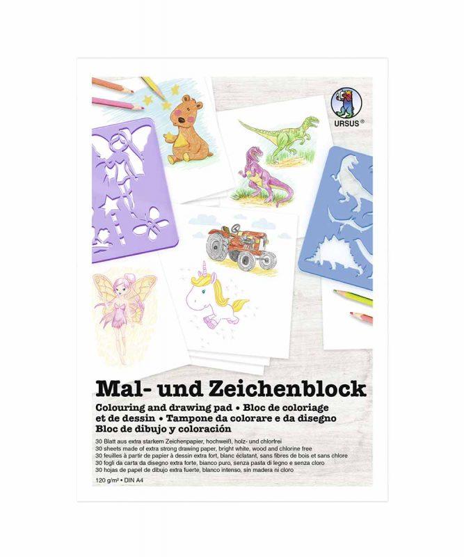Mal- und Zeichenblock 120 g/m² DIN A4, 30 Blatt, Block Art.Nr.: 4874600
