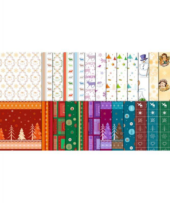 """Transparentpapier """"Merry Christmas"""" 115 g/m² 50 x 61 cm, gerollt, sortiert, Displaykarton Art.-Nr.: 51880099"""