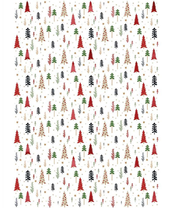 "Designkarton ""Christmas"" 200 g/m² DIN A4, 5 Blatt sortiert in 5 Motiven, 20 Sticker in verschiedenen Designs Art.-Nr.: 62454605F"