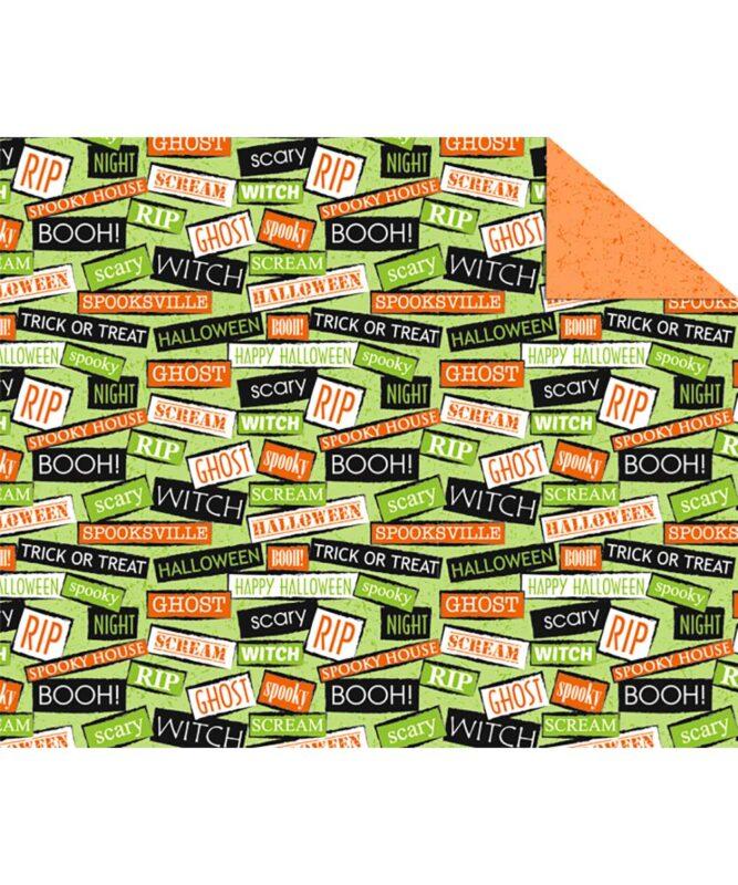 "Fotokarton ""HAPPY HALLOWEEN"" 300g/m² DIN A4 Motiv 02"