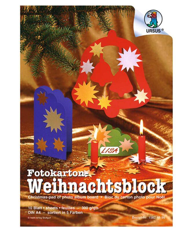 Fotokarton WEIHNACHTSBLOCK DIN A4 10 Blatt