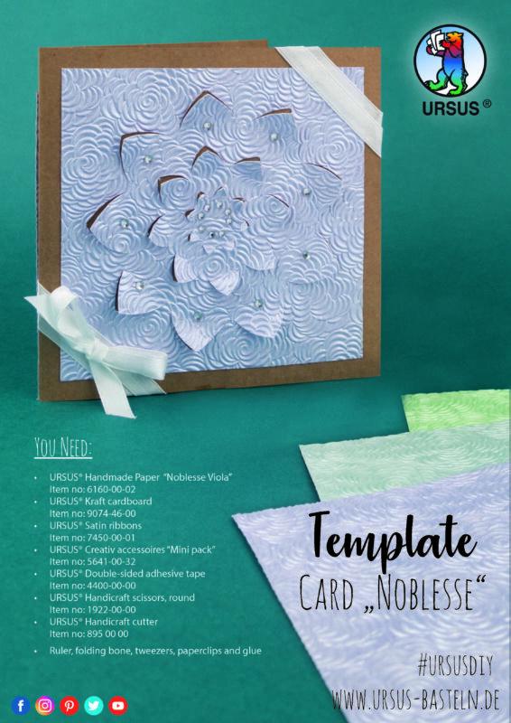 Handmade Paper Noblesse Karte en Site 1