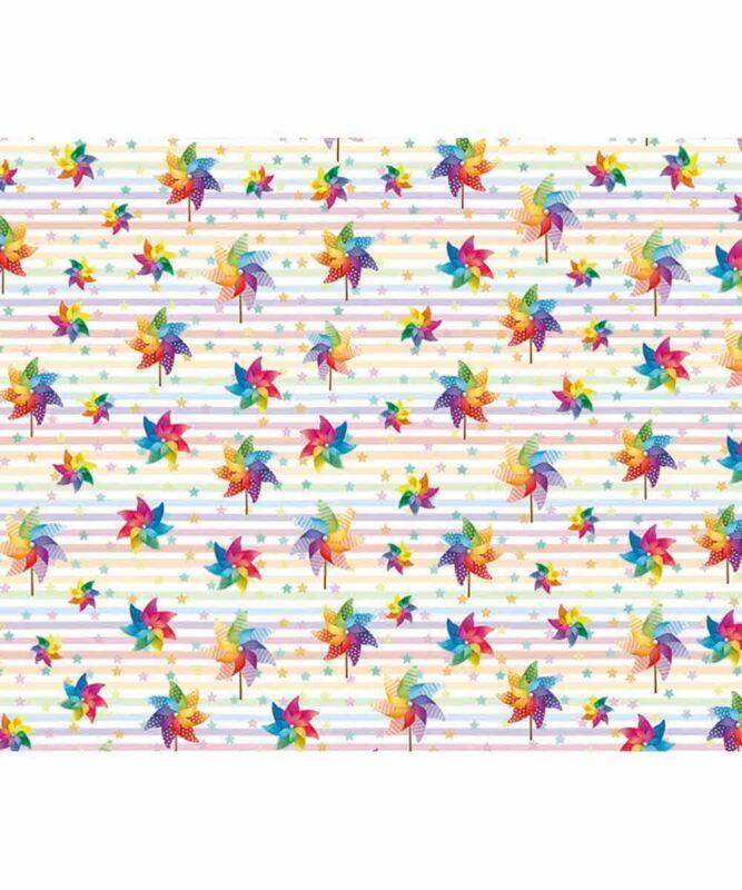 Regenbogen Windmühlen Motiv-Fotokarton 300 g/m² 49,5 x 68 cm Art.-Nr.: 127222136