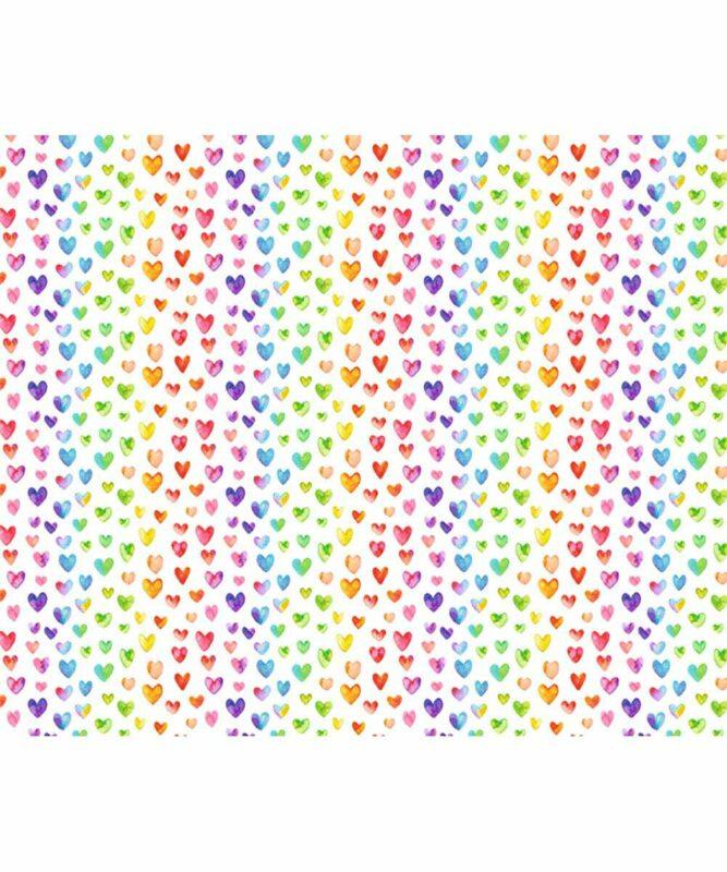 Bunte Herzen Motiv-Fotokarton 300 g/m² 49,5 x 68 cm Art.-Nr.: 127222139