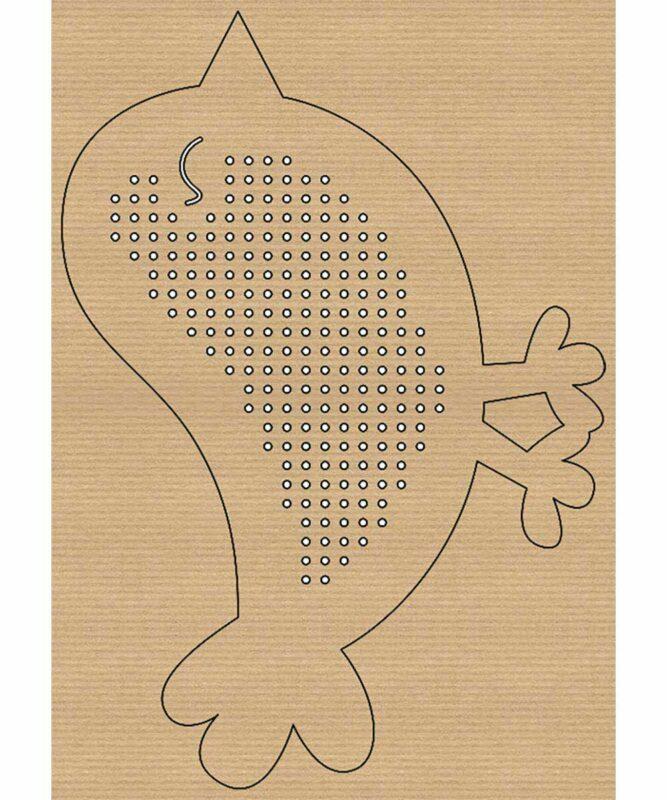 """Kreuzstich-Motive """"Tiere"""" 250 g/m², ca. 10 - 14,5 x 20,2 cm Artikel Nr.: 21430099"""