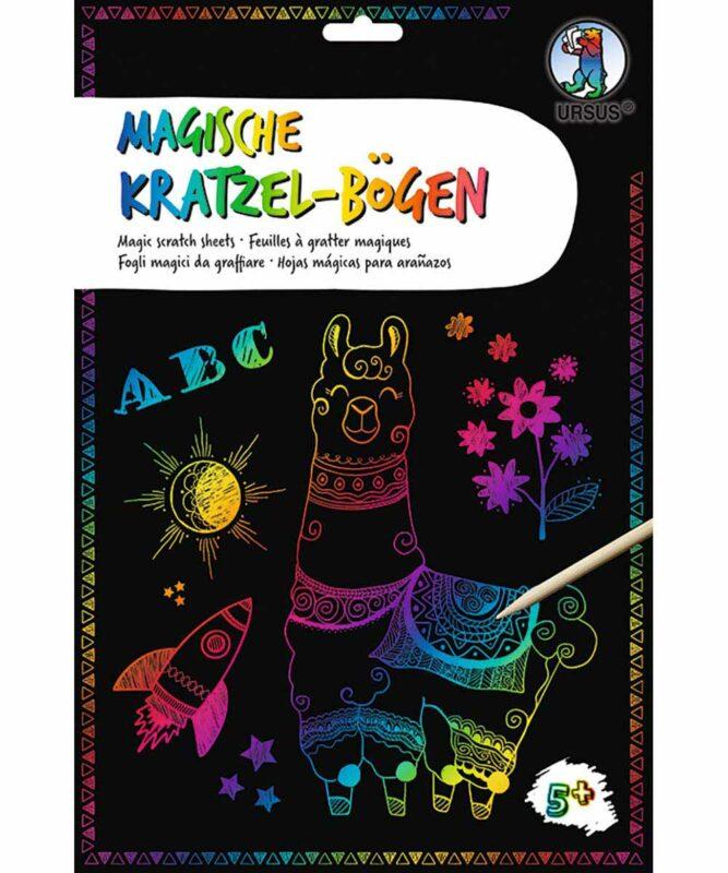 Magische Kratzel-Bögen 250 g/m2, DIN A4, 10 Blatt, mit Regenbogeneffekt Artikel Nr.: 24554600F