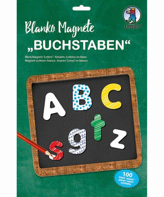 """Blanko Magnete """"Buchstaben"""", 100 Stück Art.-Nr.: 43120099"""