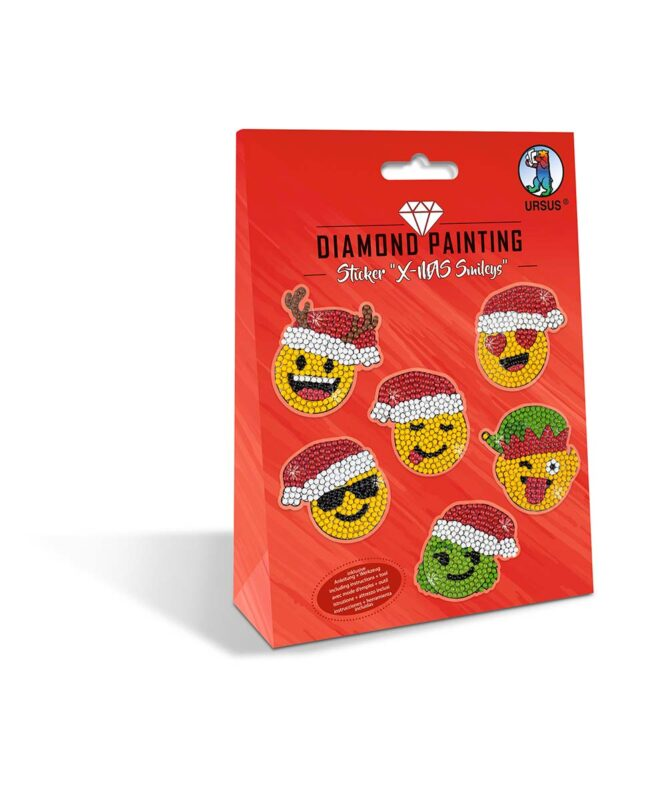 Diamond Painting Sticker X-mas Smileys Artikel Nr.: 43500006