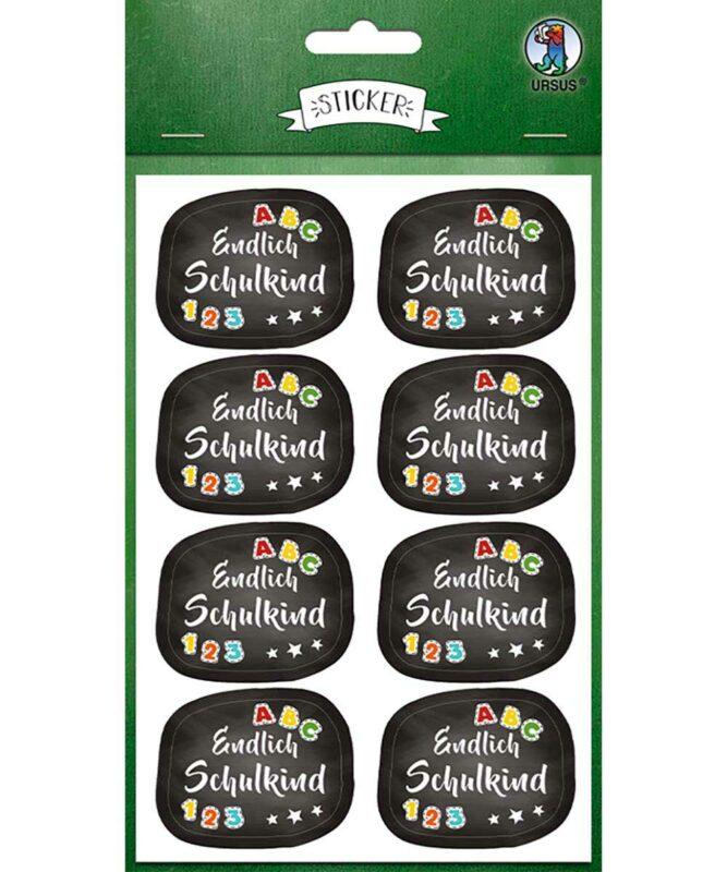 """Sticker """"Schulbeginn"""", 4 Stickerbögen 11,7 x 17,7 cm Art.-Nr.: 59520008F"""