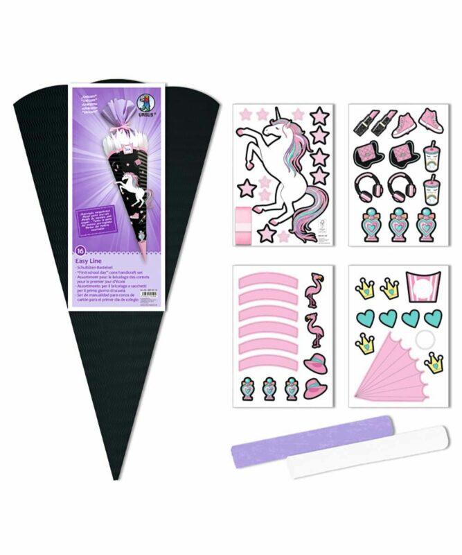 Unicorn Schultüten-Bastelset Easy Line 260 g/m², 68 cm hoch, Ø 20 cm, alle Teile vorgestanzt Art.-Nr.: 9870016