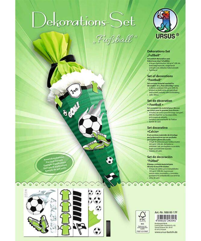 Fußball Dekorations-Sets 350 g/m² DIN A4 Art.-Nr.: 9880017F