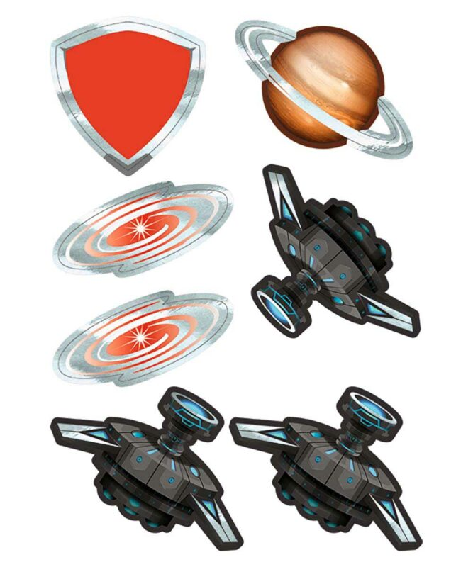 Spaceship Dekorations-Sets 350 g/m² DIN A4 Art.-Nr.: 9880018F