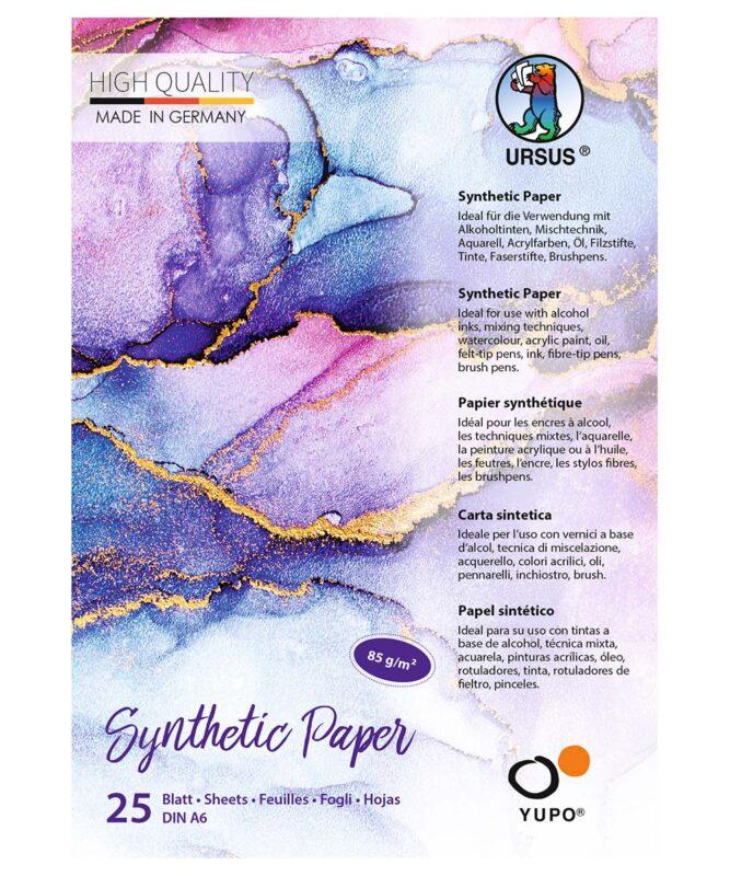 Synthetic Paper, 85 g/m2, DIN A6, 25 Blatt, Block Artikel Nr.: 16266400