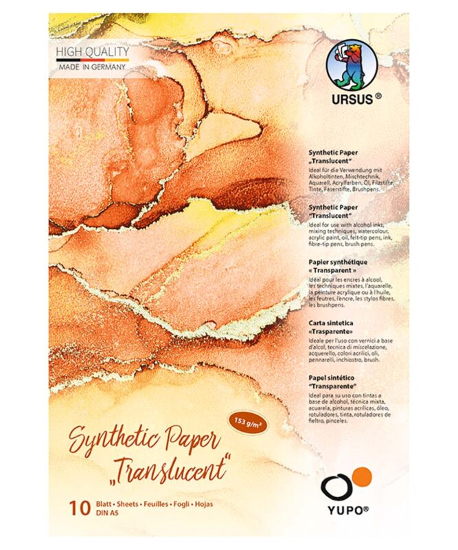 "Synthetic paper ""Translucent"", 153 g/m2, DIN A5, 10 Blatt, transparent, Block Artikel Nr.: 16299200"