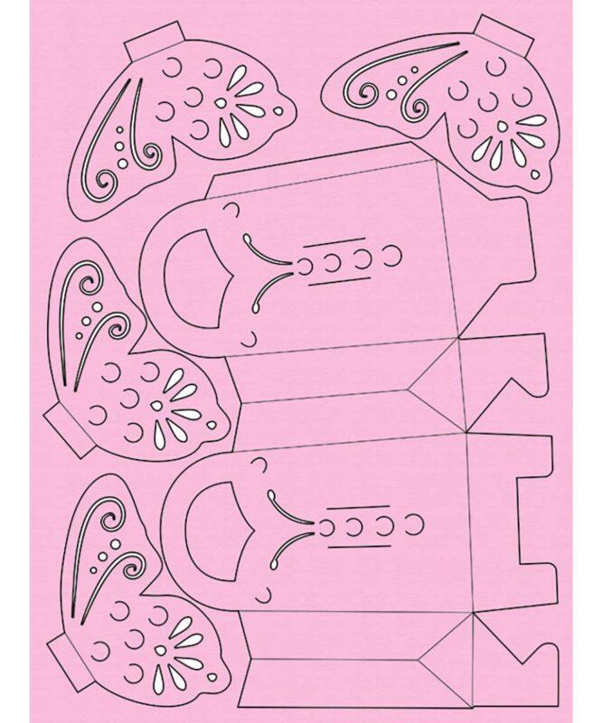 """Mini-Taschen """"Schmetterling"""" 300 g/m², Mini-Taschen """"Schmetterling"""" Artikel Nr.: 28190099"""