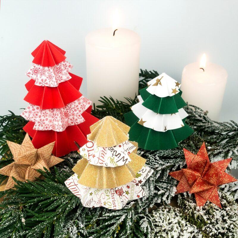 URSUS Bastelset Weihnachten Papiertannenbaum