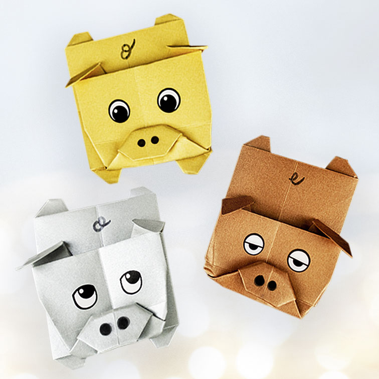 Origami Schweine