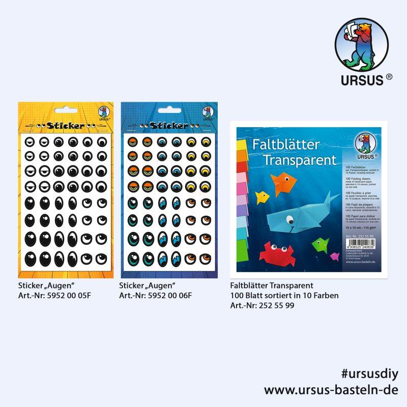"URSUS® Stickers ""Eyes"" - Folders Transparent"