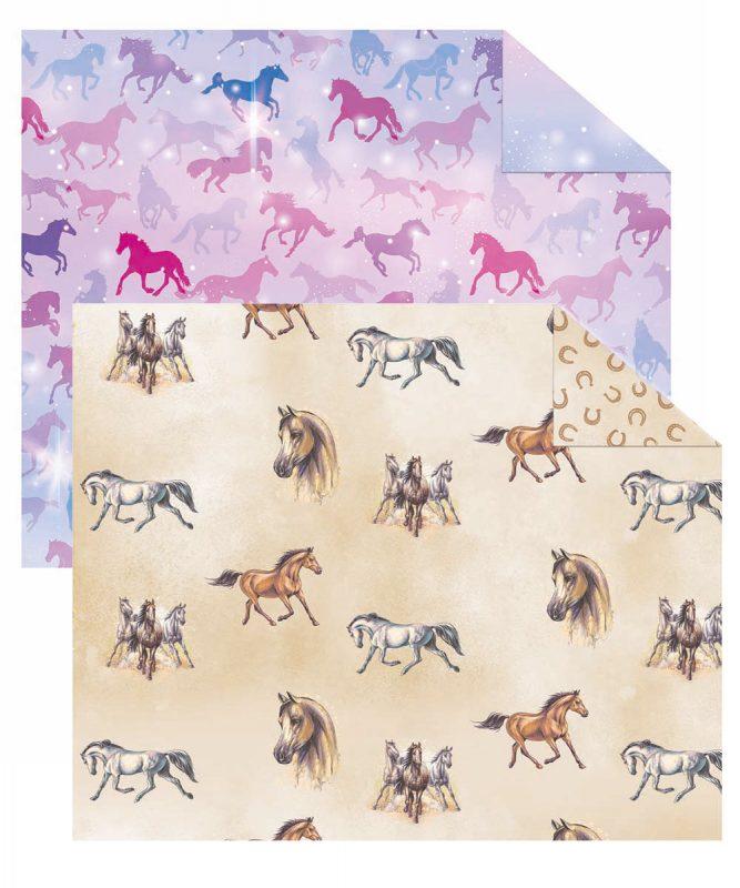 "Fotokarton ""Pferde"" 300 g/m² 49,5 x 68 cm, 10 Bogen sortiert in 2 Motiven Art.-Nr.: 11252299F"