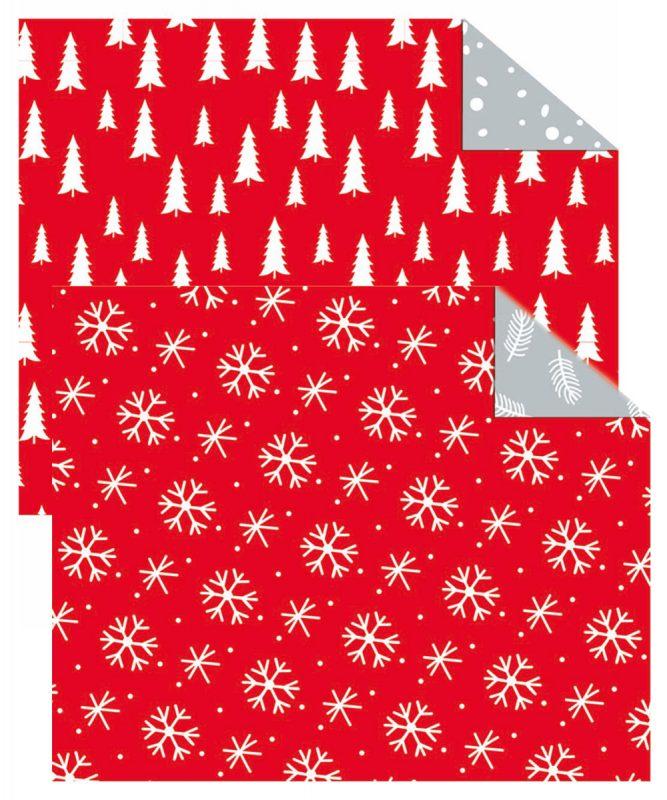 "Fotokarton ""Nordic Christmas"" 300 g/m² 49,5 x 68 cm, 10 Bogen sortiert in 2 Motiven Art.-Nr.: 11262299F Bäume -Eiskristalle"