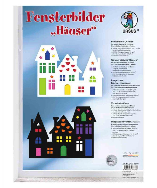 "Fensterbilder ""Häuser"" Art.-Nr.: 21330099"
