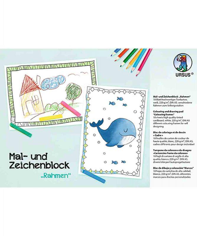 """Mal- und Zeichenblock """"Rahmen"""" Art.-Nr.: 4909200F"""