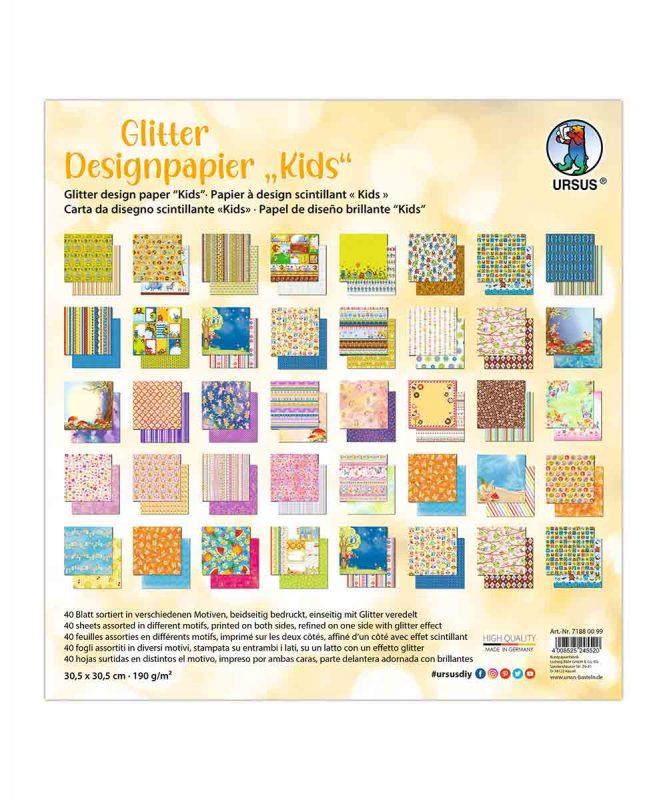 "Designpapier ""Kids"" 190 g/m², 30,5 x 30,5 cm, 50 Blatt sortiert in verschiedenen Motiven Art.-Nr.: 71880099"