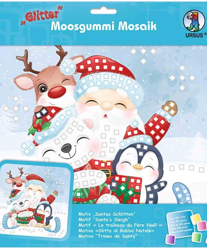 Moosgummi Mosaik Santas Schlitten Art.-Nr.: 8420021