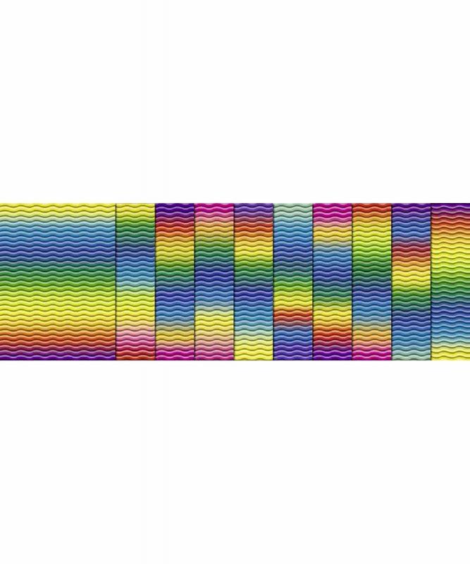 Regenbogen-3D-Colorwellpappe 50 x 70 cm, 10 Bogen sortiert in verschiedenen Farbkombinationen 260 g/m² Art.-Nr.: 1009 22 99