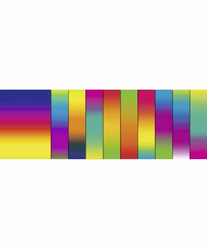 Regenbogen-Fotokarton 23 x 33 cm, 10 Blatt sortiert in verschiedenen Farbkombinationen, Bastelmappe 300 g/m² Art.-Nr.: 15340099