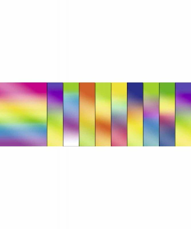 Regenbogen-Buntpapier 23 x 33 cm, 10 Blatt sortiert in verschiedenen Farbkombinationen, Bastelmappe 115 g/m² Art.-Nr.: 1910099
