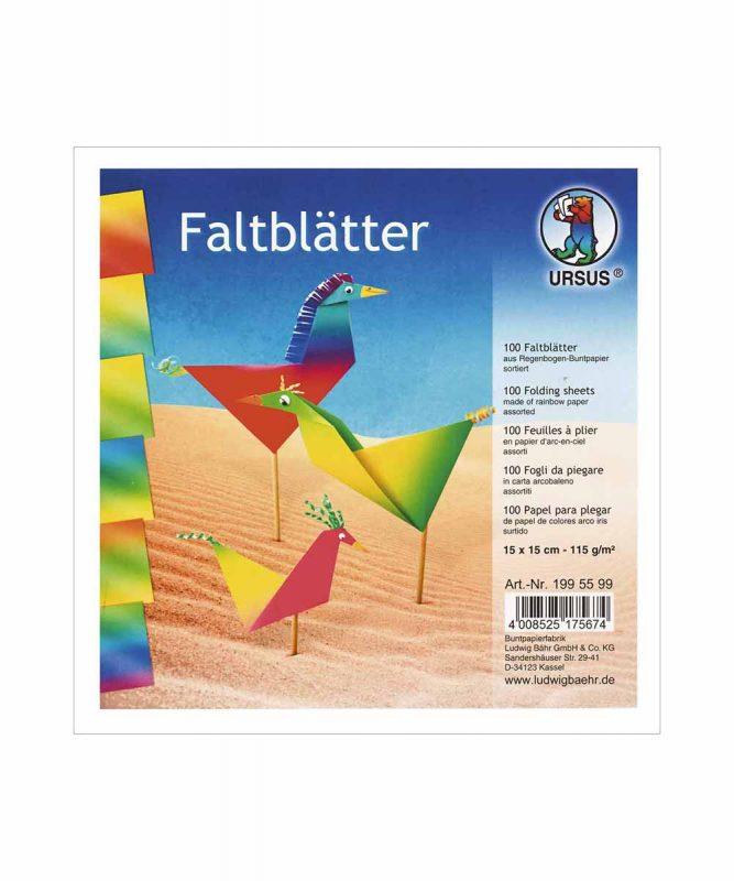 Regenbogen-Buntpapier Faltblätter 115 g/m² Art.-Nr.: 1995199