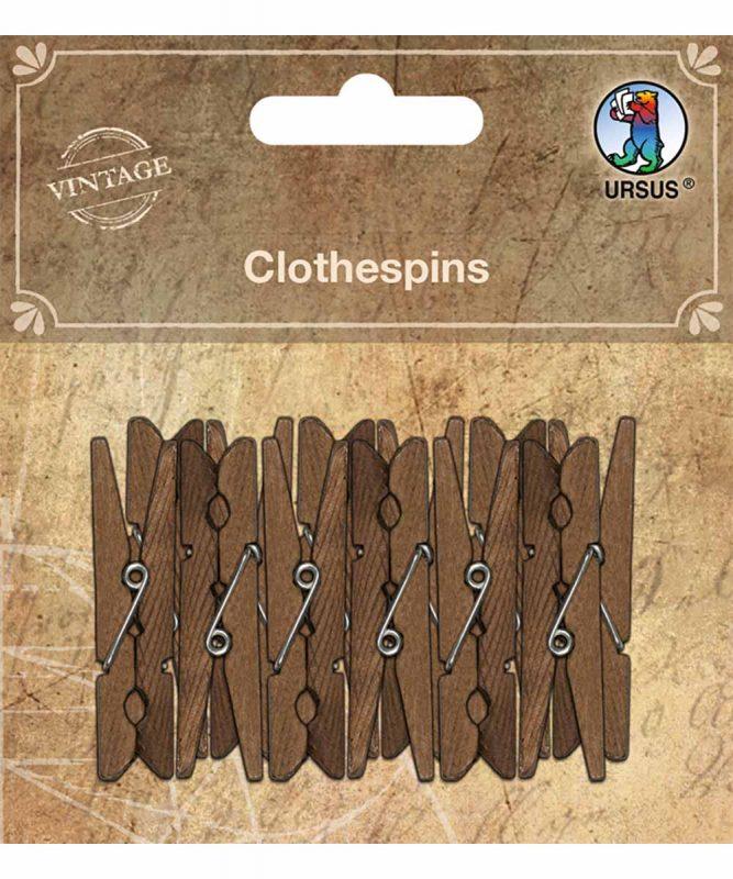 Wäscheklammern aus Holz 12 Stück 5 cm Länge Art.-Nr.: 40610002