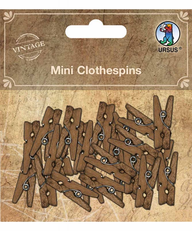 Wäscheklammern aus Holz 24 Stück 2,5 cm Länge Länge Art.-Nr.: 40610003