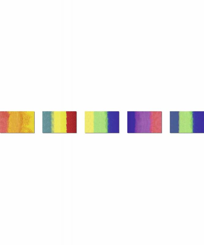 Regenbogen-Strohseide 50 x 70 cm, sortiert in 5 Farbkombinationen 25 g/m² Art.-Nr.: 4842299