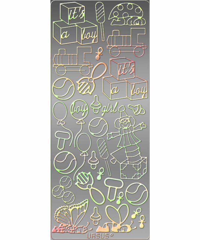 Kreativ Sticker Sticker multicolor, 10 x 23 cm, mit Eurolochung 1 Stk. Art.-Nr.: 59160023 5 Stk. Art.-Nr.: 59360023