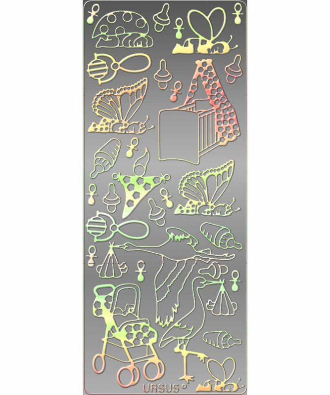 Kreativ Sticker Sticker multicolor, 10 x 23 cm, mit Eurolochung 1 Stk. Art.-Nr.: 59160024 5 Stk. Art.-Nr.: 59360024