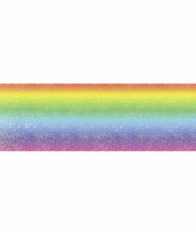"""Rainbow Flitter paper """"Stripes"""", 23 x 33 cm, 5 Blatt, mit Banderole 220 g/m² Art.-Nr.: 60240001F"""