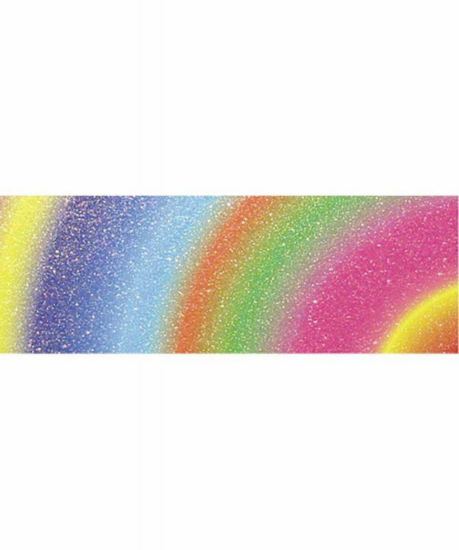 "Rainbow Flitter paper ""Arc"", 23 x 33 cm, 5 Blatt, mit Banderole 220 g/m² Art.-Nr.: 60240002"
