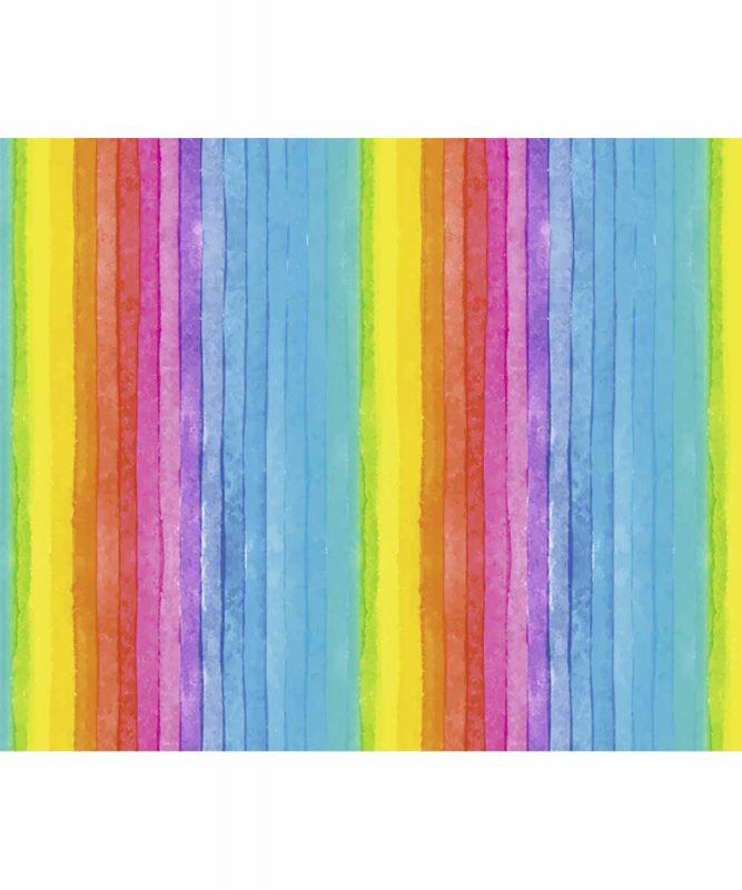 """Transparentpapier """"Regenbogen Streifen"""" 50 x 61 cm, gerollt, 115 g/m² Art.-Nr.: 77670001"""