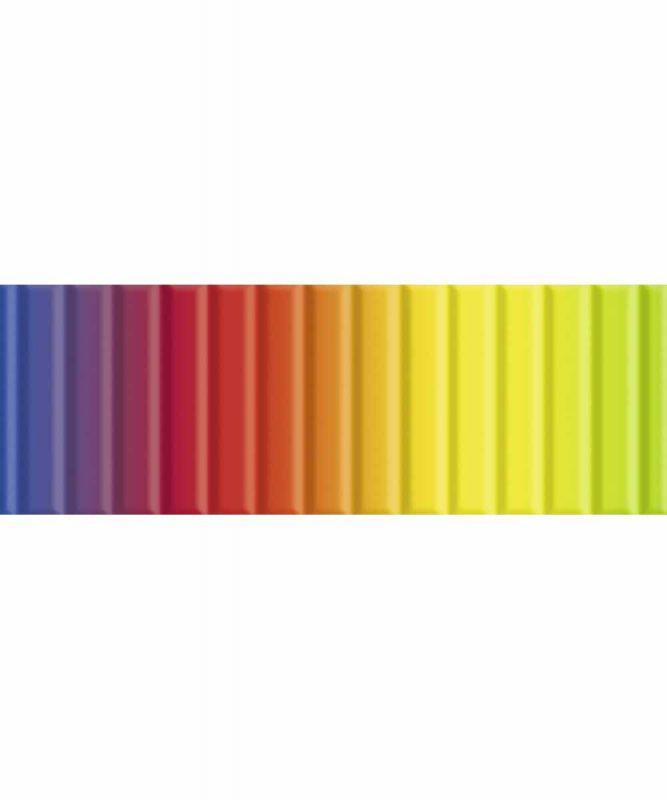 Regenbogen-Bastelwellpappe 50 x 70 cm, 10 Bogen sortiert in verschiedenen Farbkombinationen 260 g/m² Art.-Nr.: 9272299