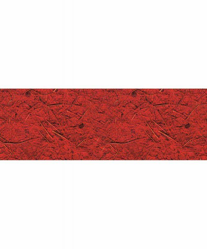 Kokospapier Handgeschöpftes Naturpapier aus Baumwolle, mit Kokosfasern, 250 g/m² 50 x 70 cm Art.-Nr.: 14212222 rubinrot