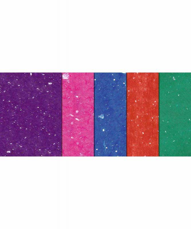 Muschelpapier Handgeschöpftes Naturpapier, mit Muschelpartikeln, 70 g/m² 23 x 33 cm, 10 Blatt sortiert in 5 Farben, Bastelmappe Art.-Nr.: 14600099 50 x 70 cm, 10 Bogen sortiert in 10 Farben Art.-Nr.: 14632299