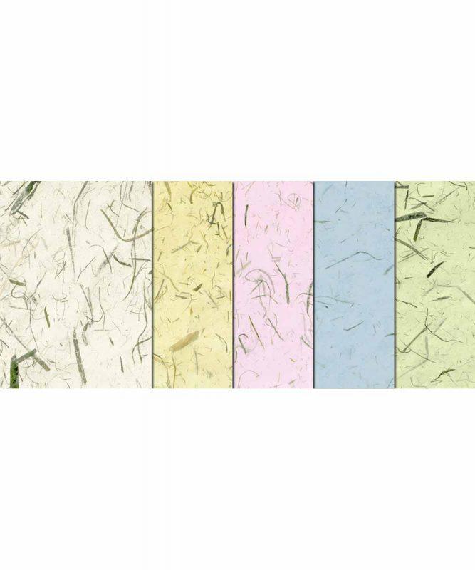 Bambuspapier Naturpapier mit Bambusfasern, 35 g/m² 23 x 33 cm, 5 Blatt sortiert in 5 Farben Art.-Nr.: 14640099 50 x 70 cm, 10 Bogen sortiert in 5 Farben Art.-Nr.: 14662299