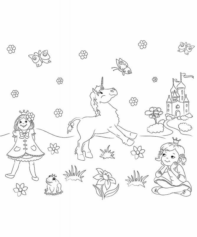 """Ausmal-Tischsets """"Prinzessin"""", 33 x 40 cm, 5 Blatt Art.-Nr.: 24600000"""