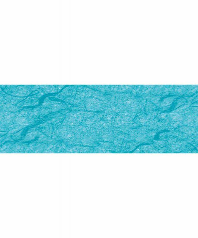 Seidenpapier mit Fasern vom Maulbeerbaum, 25 g/m² 23 x 33 cm, 5 Blatt, mit Banderole californiablau Art.-Nr.: 60500035